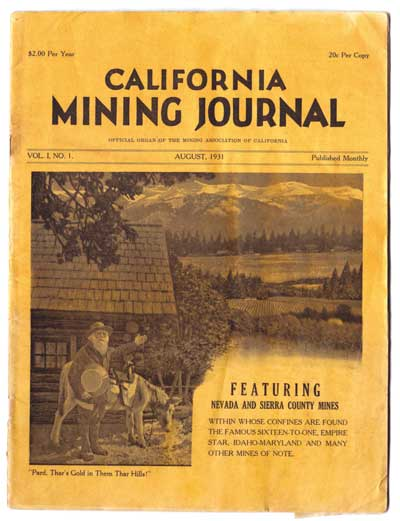 The very first issue of the Mining Journal