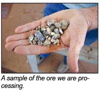 A sample of the ore we are processing