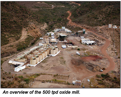 An overview of the 500 tpd oxide mill