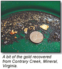 Gold from Contrary Creek