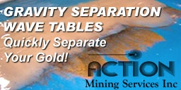 Micron Mill Wave Tables, assay supplies, concentrators, impact mills, technical books & more!