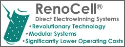 Renocell direct eletrowinning systems