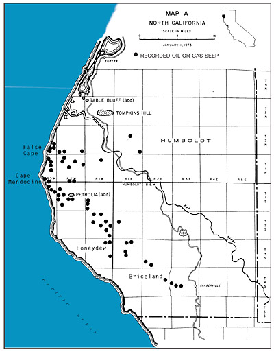 Refineries In California Map.Oil Seeps In Northern California July 2001 Vol 70 No 11