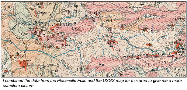 Placerville California Map.Rediscovering Placerville California February 2011 Vol 80 No