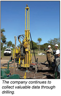 Drilling by Cue Resources' Yuti Project