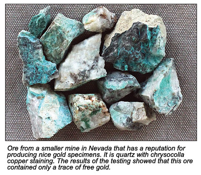 Ore from a smaller mine.
