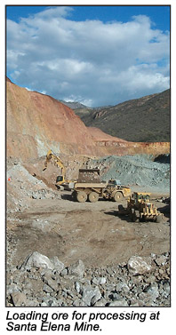 Loading ore for processing.