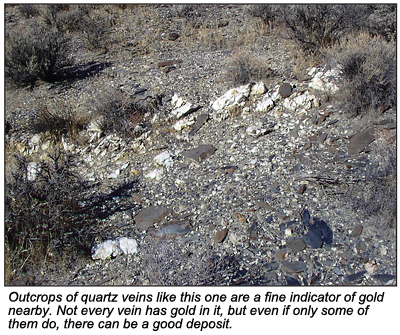 Outcrops of quartz.