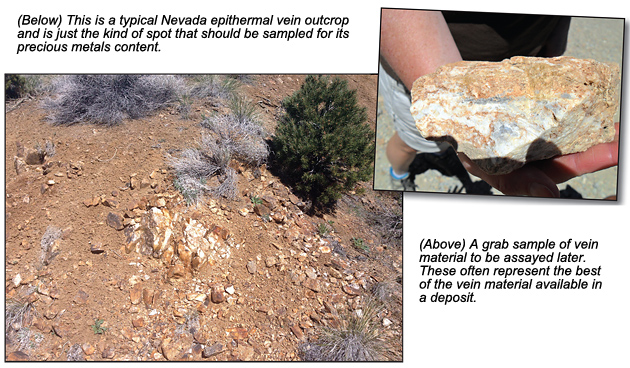 Outcrop and sample.