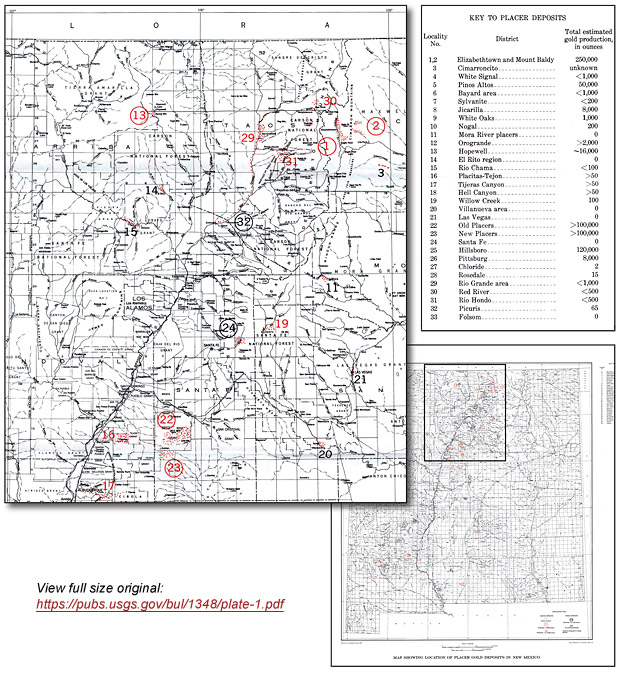 Placer Gold Deposits of New Mexico | ICMJs Prospecting and